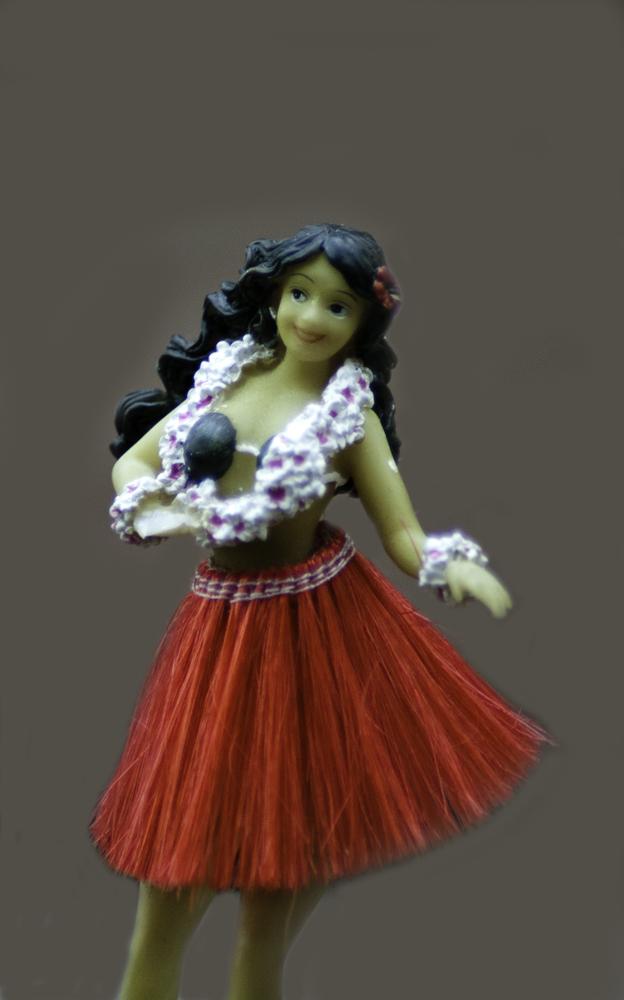 toy, figurine, hula girl, hawaiian,